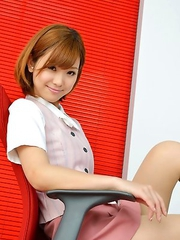Hot Ichika Nishimura is sweet office babe that loves to am
